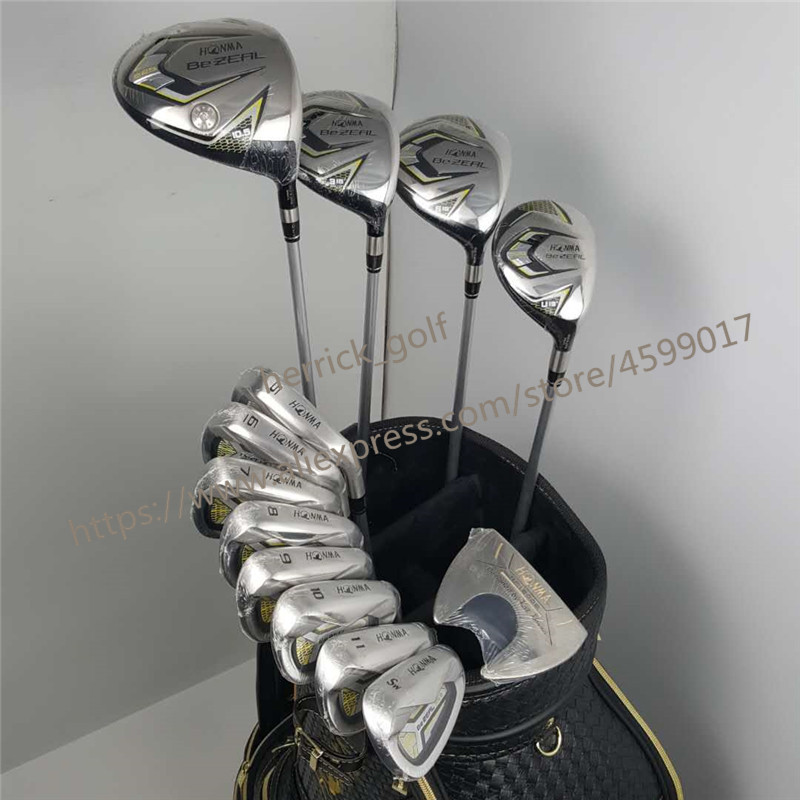 Nuovo 525 Golf clubs HONMA BEZEAL 525 Set Completo HONMA Golf driver. di legno. ferri da stiro. putter Golf Grafite albero senza sacchetto Trasporto libero