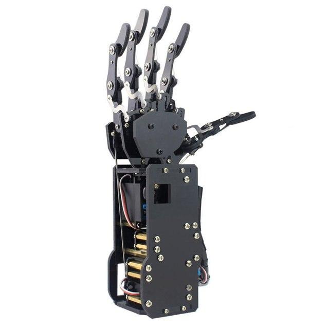 Robô industrial braço biônico, mãos grandes servo dedos de torque automovimento mecânico com painel de controle
