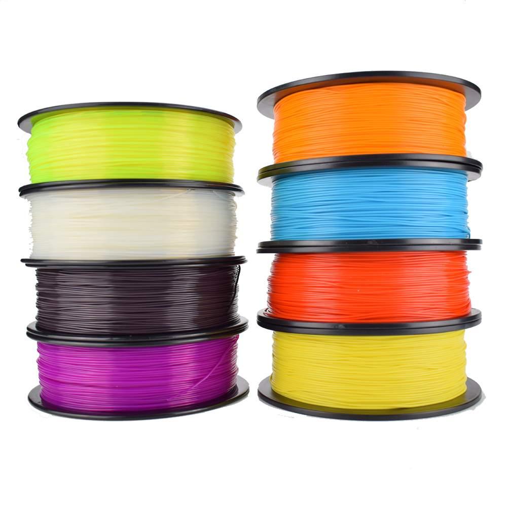 9 couleur Option 3D Imprimante Filament 1 KG/rouleau PLA Filament/Filament abs 1.75mm En Plastique Consommables Matériel 3D imprimante 3D stylo