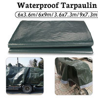 2019 New 6x9m/6x3.6m/3.6x730cm/7.3x9mOutdoor Snow protection Waterproof Camping Tarpaulin Field Camp Tent Cover Car Cover Canopy