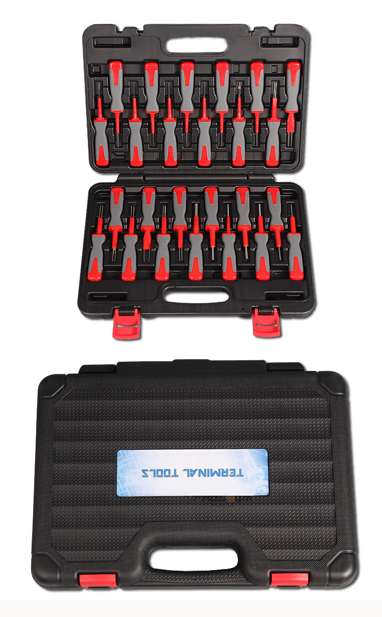 25 in 1 Terminal Removal Tools Release Extractor Crimp Terminal Removal Dismount Tool Kit for audi VW Molex DELPHI tyco AMP