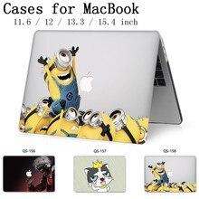 Funda para portátil para ordenador portátil MacBook 13,3 15,4 pulgadas para manga MacBook Air Pro Retina 11 12 con teclado Protector de pantalla cove