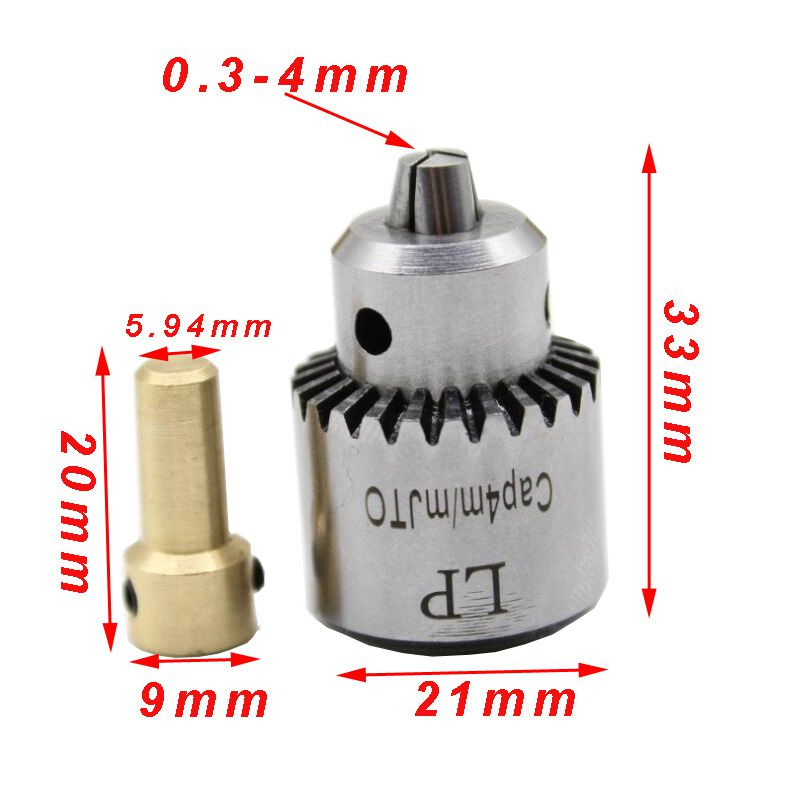Image 3 - Hot Electric Drill Grinding Mini Drill Chuck Key Keyless Drill Chucks 0.3 4mm Capacity Range W/ 3.17mm Shaft Connecting Rod-in Drill Bits from Tools