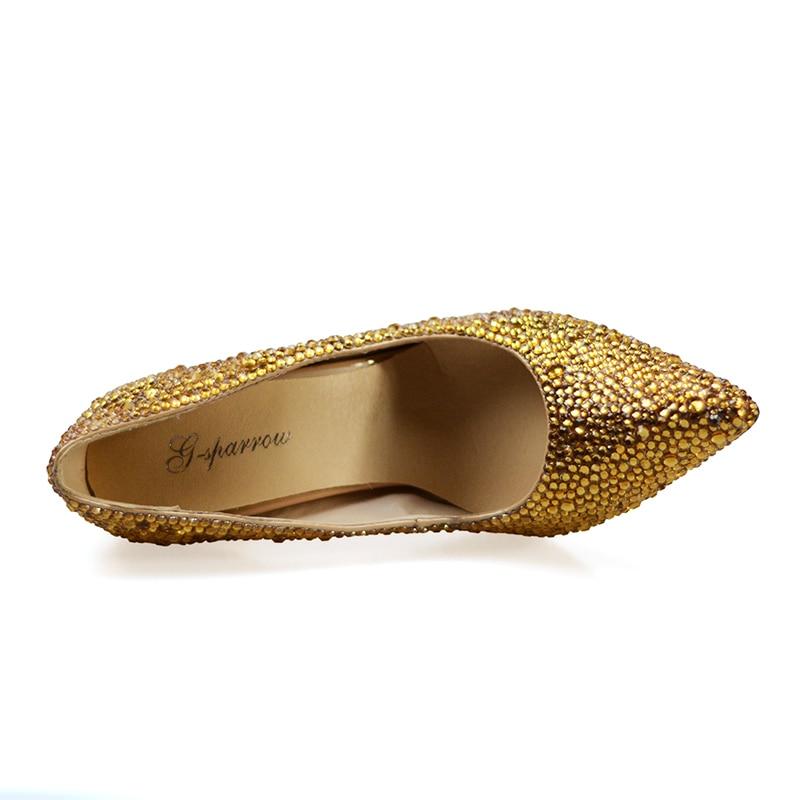 Dedo Heels Bombas Oro La Noche Con Más Tacón Bolsa 2018 Rhinestone Punta 34  47 gold Boda Tamaño Novia Del Mujeres Pie Bolso 10cm Alto Bag En Zapatos ... 4c85f3f54e12