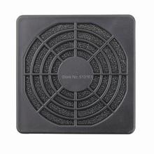 500 pieces/lots Gdstime 6CM 60MM Black Plastic PC Fan Dust Filter Dustproof Case Computer Mesh