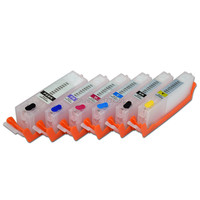 6 color PGI 780 CLI 781 Refill Ink Cartridge with Disposable Chip for Canon PIXMA TS9170 TS8170 PGI 780XL 781XL