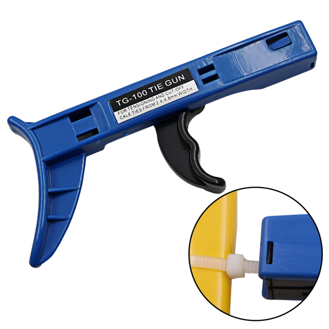 Zip Tie Gun >> Tg 100 Cable Zip Ties Automatictension Cut Off Gun Tool Fastening