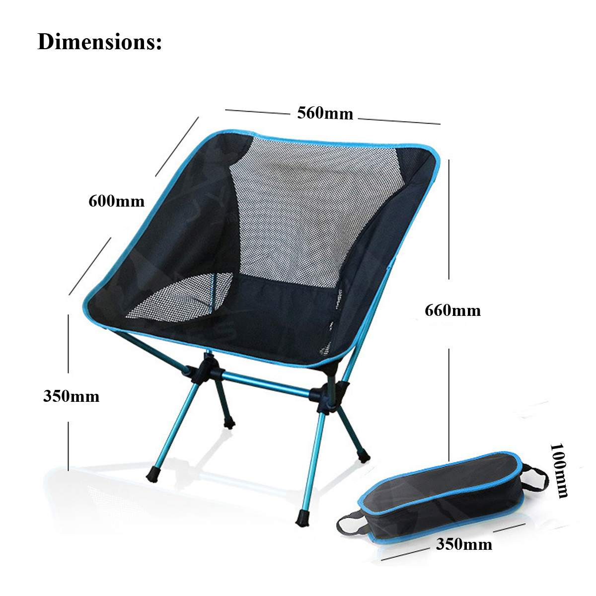 Foldable Office Chair Portable Folding Camping Stool Foldable Fishing Chair Seat With Backpack For Fishing Picnic Bbq Cycling Hiking