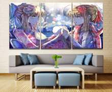 Home Decor Modular Canvas Picture 3 Piece Fate Stay Night Arthur Saber Animation Painting Poster Wall For Wholesale