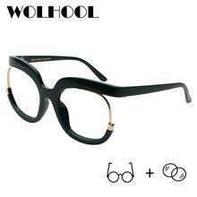 57da92034e Retro Oversized Round Glasses Women Big Clear Plastic Optical Glasses  Eyeglasses Myopia Prescription Glasses Okulary Korekcyjne