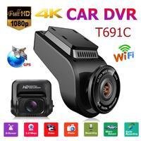 VODOOL 691C 2 Inch 4K Car DVR Camera Recorder Car Electronics Portable Camera FHD Dash Cam 170 Degree Dual Lens Driving Dashcam