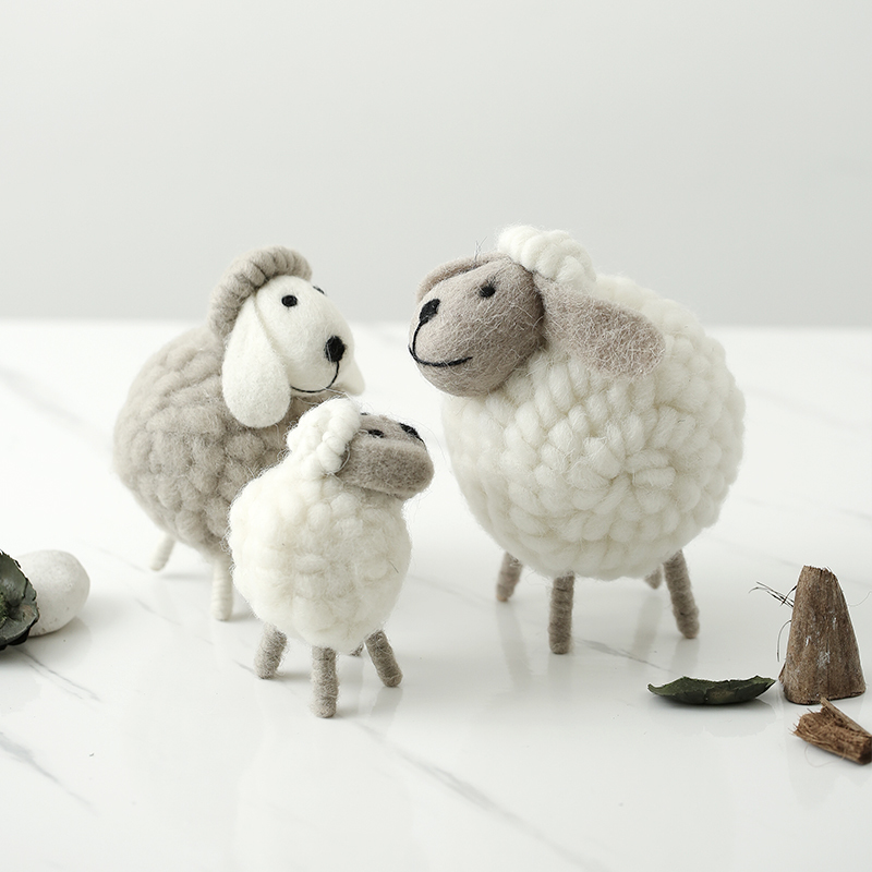 Newborn Photography Props Plush Sheep Photos Children Toy Baby Photo Props Accessories European Style Home Furnishing Articles