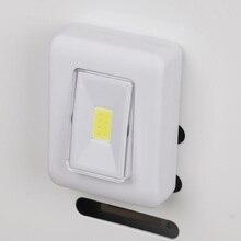Coquimbo interruptor noturno de led, lâmpada de parede para luz noturna super brilhante operada com bateria em qualquer lugar, luz noturna para cabeceira
