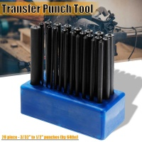 28pcs 120mm Transfer Punch Set Carbon Steel Hand Tools Machinist Thread Punches Kit Tool Sets High Durability