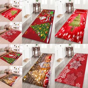 Image 4 - Hot Sale Christmas Floor Mat Santa Claus Flannel Carpet Rug Non Slip Xmas Decor 5 Sizes
