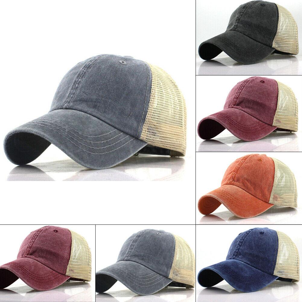 New Unisex Men Women Fashion Casual   Baseball     Cap   Men Adjustable Distressed Trucker Snapback Hat   Baseball     Cap