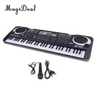 MagiDeal 61 Keys Electric Organ Keyboard Piano Mini Microhone Set for Baby Kids Musical Intelligence Toy Great Birthday Gift