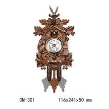 1pc Antique Wall Clock Vintage Bird Bell Timer Woodboard Clocks Swing Alarm Clock Wall Watch Farmhouse Home Decor