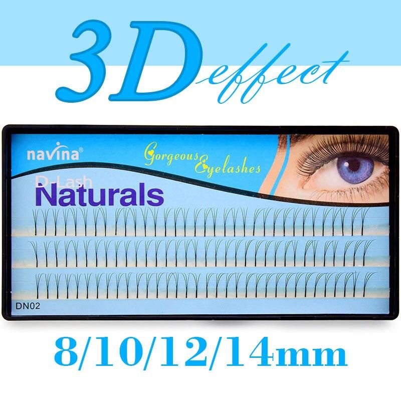 Navina Natural 3D Volume Effect Eyelash Extension Mink Individual Eyelashes Long Black Makeup False Eye Lashes 3D Russian Volume