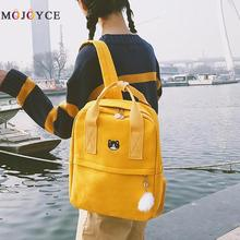 fade2b170a Preppy Style Women Girls Canvas Backpack Teen Vintage Casual Shoulder  School Backpack korean style Rucksack Mochila · 4 Colors Available