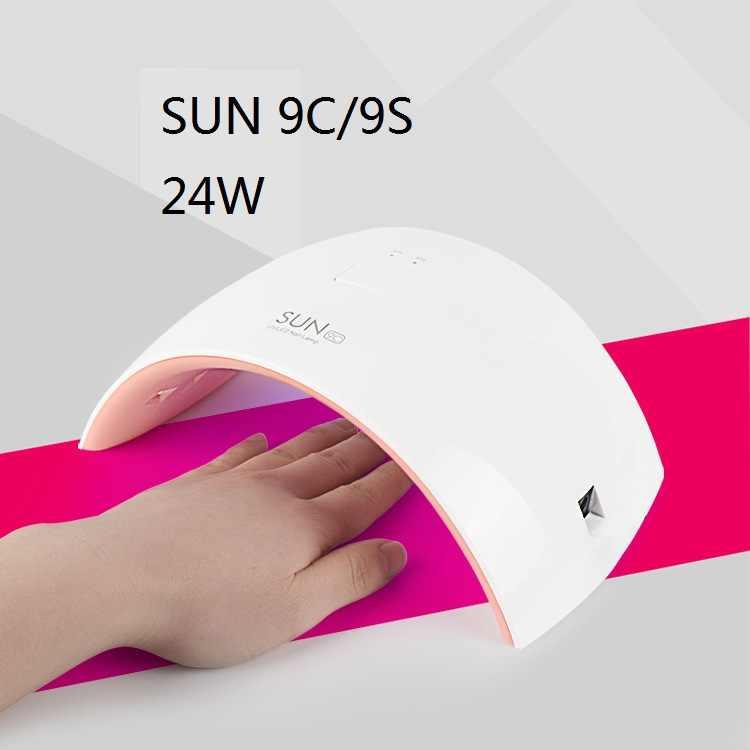 Professional 24W UV LED Lamp Nail SUN9C SUN9S Nails Dryer Gel Polish Machine for Curing Nail Gel Art Tool