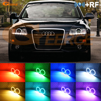 For AUDI A6 S6 RS6 2009 2010 2011 XENON headlight RF Bluetooth Controller Multi Color Ultra bright RGB LED Angel Eyes kit