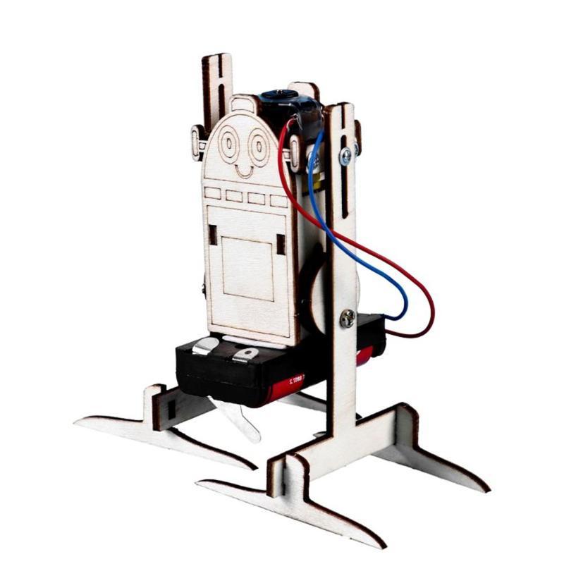 Robot eléctrico juguete de experimentos de ciencia, paquete de Material de aprendizaje, juguetes técnicos educativos, regalos DIY, pequeño modelo de producción