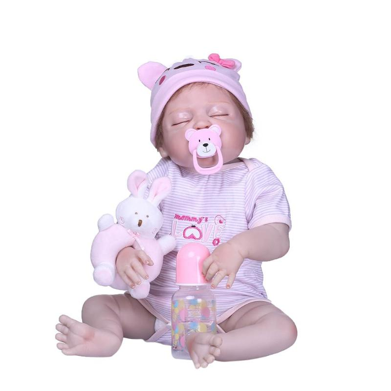 Здесь можно купить  NPK 56cm Mini Reborn Baby Doll Vinyl Simulation Doll Girls Gift Baby Playmate Toy Imitation Baby Bathing Toy Photography Prop  Игрушки и Хобби