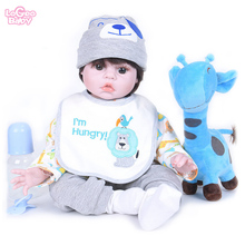 NEW Hot Sale 22 Reborn Baby Doll Silicone Newborn bebes reborn Childrens toy gift Dollhouse toys lovely Lifelike lol doll