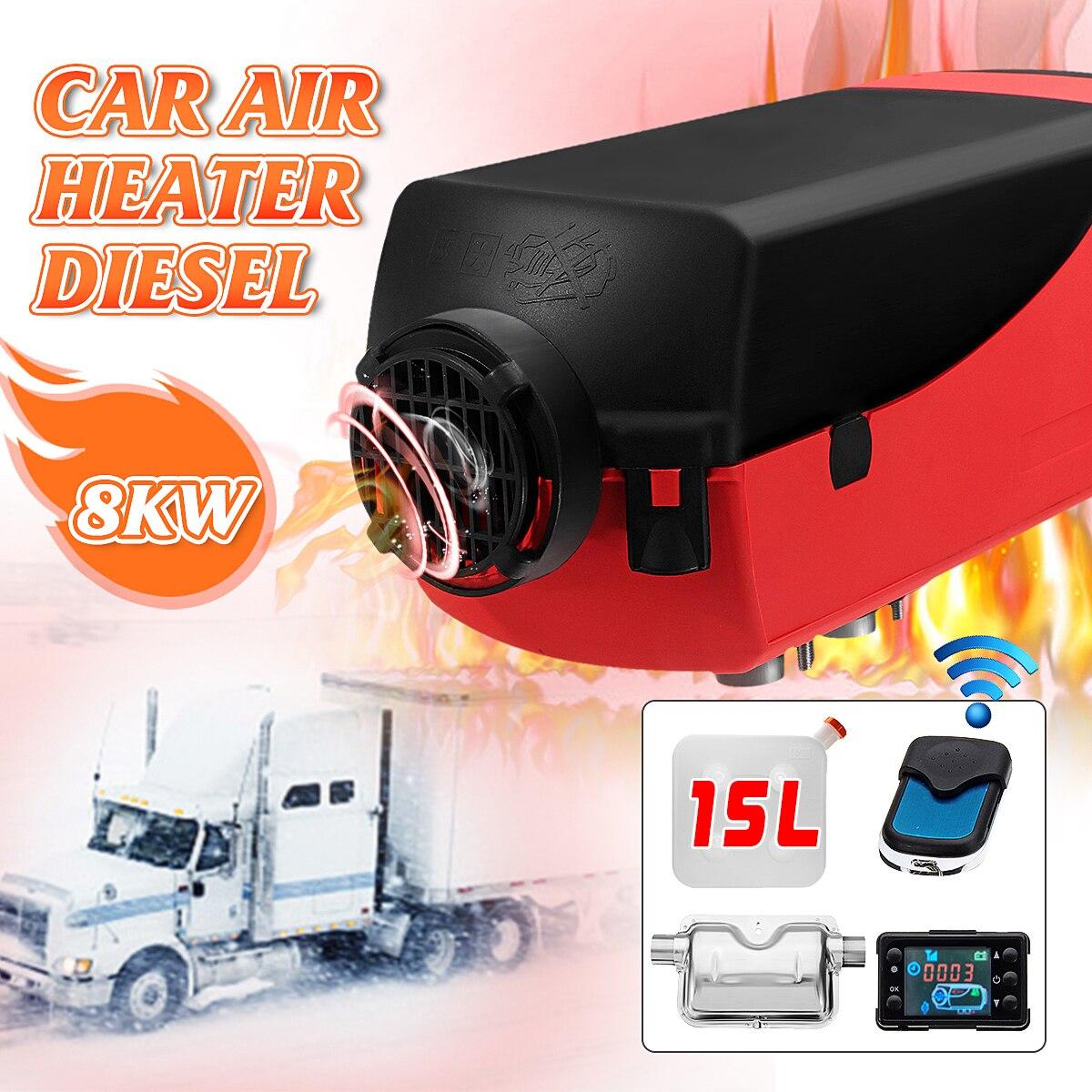 ЖК дисплей D iesel нагреватель глушители для автомобиля 12 В 8KW 15L бак Planar автомобили, грузовики лодка, дом на колесах парковка с Дистанционный пу...