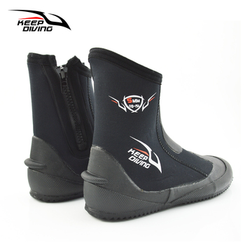 Keep Diving 5mm Neoprene Scuba Boots Water Shoes Vulcanization Winter Cold Proof High Upper Warm Fins Spearfishing