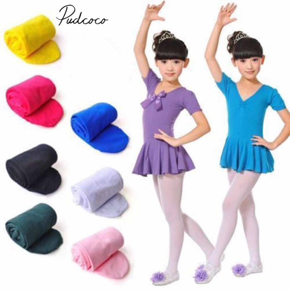 2019 Marca New Baby Meninas Crianças Meia-calça Meias Ballet Meias Dança Leggings Opaque Sólida Doces Cores 4-12 9 T