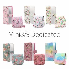 CAIUL Fujifilm Instax Mini 8  9 PU Leather Camera Protect Case with 96 Pockets  3 Inch  Instant Photo Album