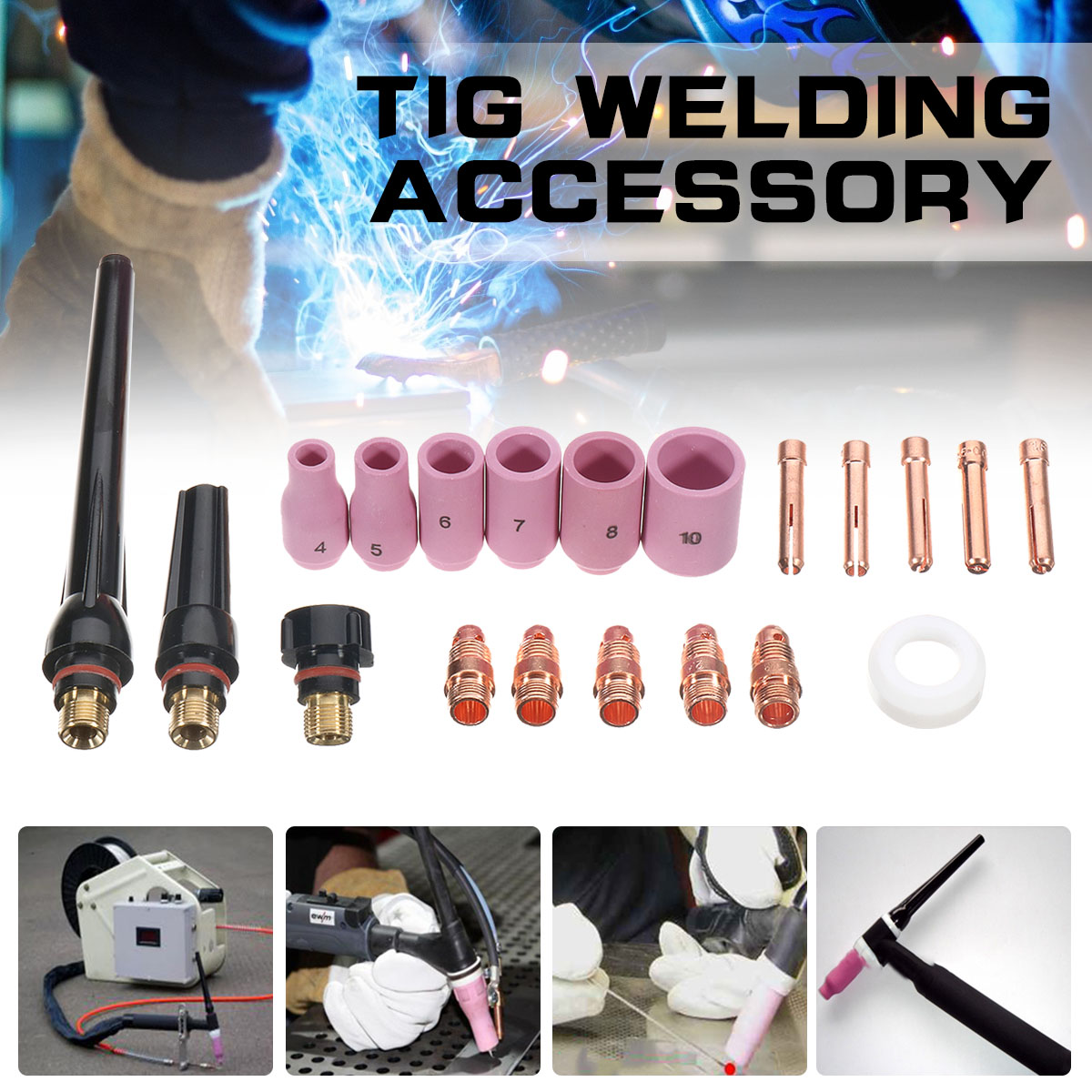 Tig Welding Torch 17 18 26 Accessory Kit Stubby Collet Setup T23 Us Seller Fast Tig Torches Business Industrial 32baar Com