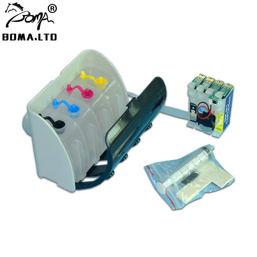 1 комплект T2701 T2704/T270 СНПЧ система для Epson с чипом ARC для Epson принтер WF 7715 7710 7720 7210/7110/7610/7620/3620/3640