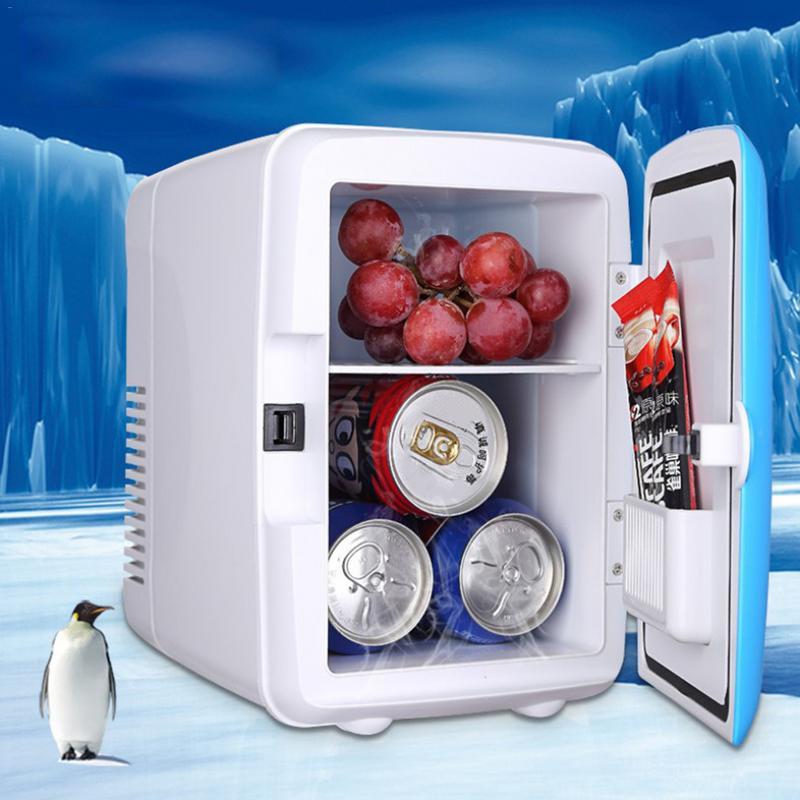 12V Mini Portable 4L Cooling Refrigerators Fridge Freezer Cooler Travel Warmer For Auto Car Home Office Outdoor Picnic Travel