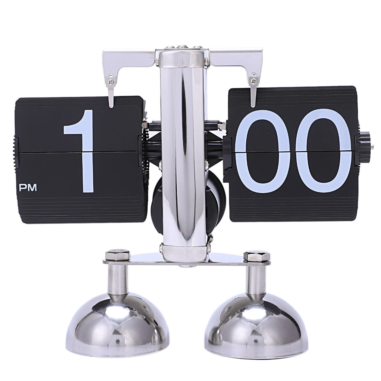 Vintage rétro Flip horloge échelle moderne numérique Auto Page tournant double Stand Flip horloges décor à la maison bureau Table Quartz horloge