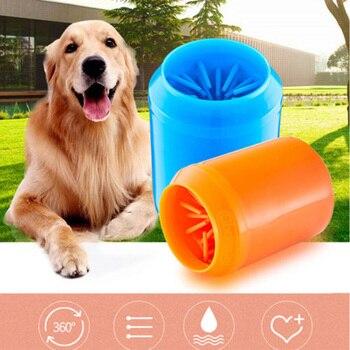 Marca Nuovo Stile Morbido Pet Dog Paw Cleaner Pulizia Del Piede Del Silicone di trasporto Solido Rondella Spazzola Tazza 1