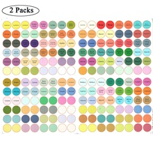 2Pack 192Pcs Paper Waterproof Label Stickers for Essential Oil Bottle Cap Color Coded For doTERRA Crystal Angel все цены