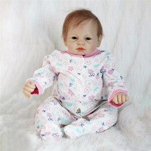 Image 2 - 비비 다시 태어난 22 inch 부드러운 실리콘 비닐 인형 55cm 다시 태어난 아기 인형 신생아 살아있는 bebe reborn 인형 생일 선물