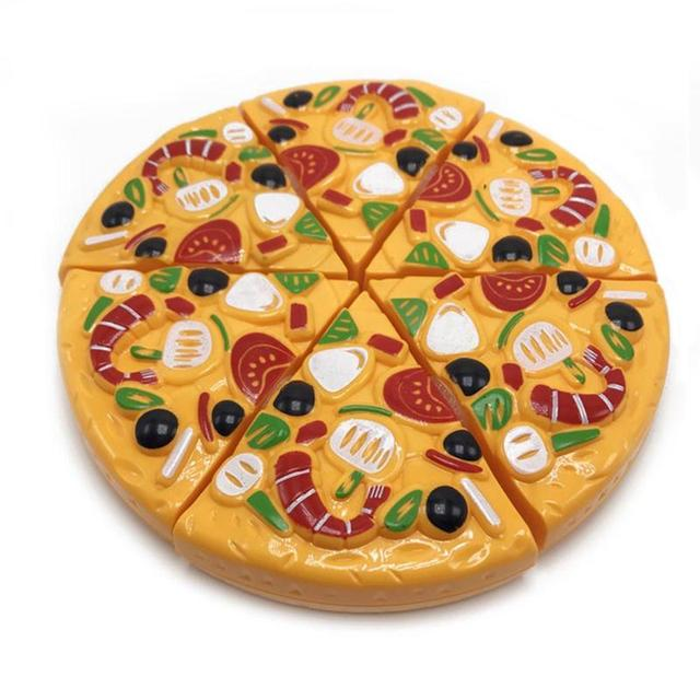 9Pcs/Set Kids Pizza Slices Food Pretend Play Toy Dinner Kitchen Toys Cutting Girls Boys Children Educational Toys with Knife 5