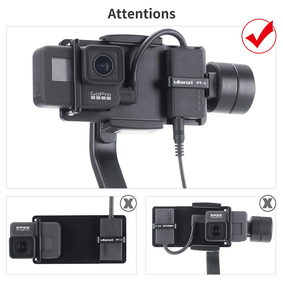 Adapter for All Mobile Gimbal Transfer to Gopro Session Sports Camera