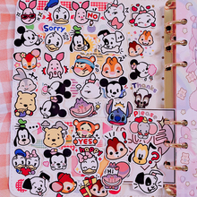 40 pcs / pack Disney cartoon avatar Mickey Mouse DIY animation sticker decoration Minnie detachable waterproof children stickers