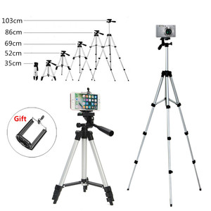 Universal Portable Tripod 4 Sections Tripod+Phone Holder Camera Holder Smartphone For Canon For Sony For Nikon Compact Camera