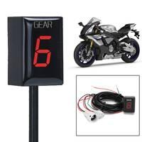 1 6 Speed Motorcycle Gear Indicator Gear Meter Red LED Display for Yamaha YZF R1 YZF R6 Xt660 Fz6 Fz 16 Fz1 Fz8