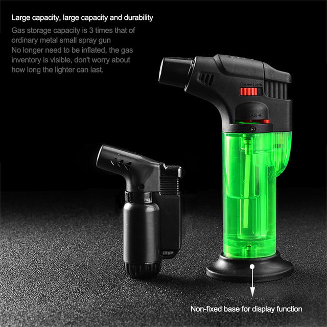 2019 Torch Kitchen Butane Lighter Chef Cooking Refillable Adjustable Flame Lighter BBQ Ignition Spray Gun Picnic Kitchen Tool A