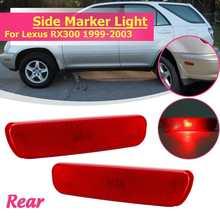 Задний левый правой стороны бампера Включите маркер сигнала свет лампы желтый красный для 1999 2000 2001 02 2003 для Lexus RX300 81760-48010