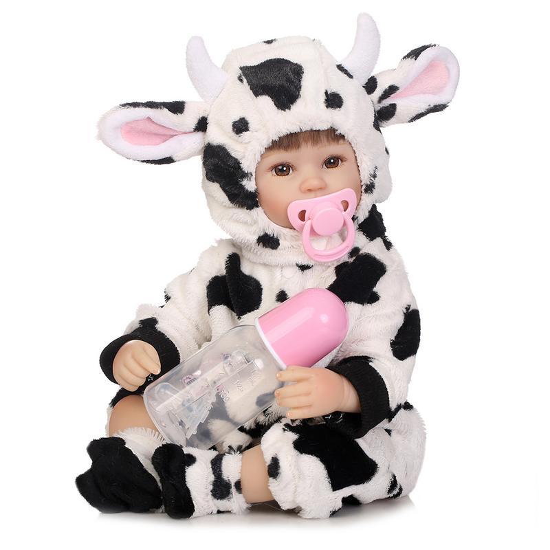 Belle petite vache réaliste simulé Reborn poupée