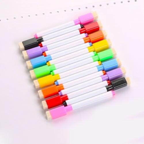 dry erase eraser easy whiteboard 8 colour set magnetic white board marker pens