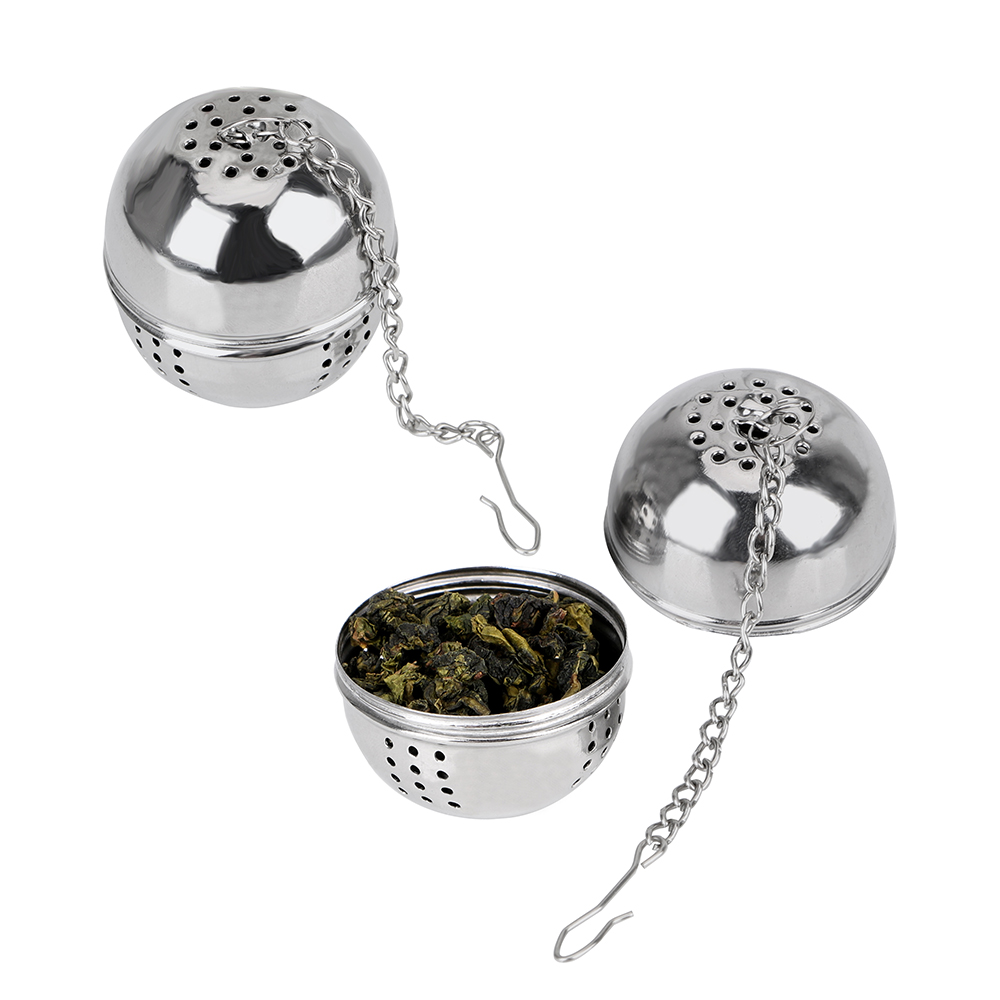 Hangable Stainless Steel Ball Shape Tea Infuser For Loose Tea Leaf Spice Home Kitchen Accessories Mesh Filter Strainer